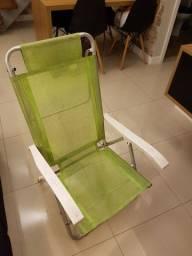 Guarda-sol e cadeiras de praia (usado)
