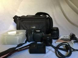 Câmera Canon T4i com acessórios completo