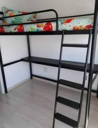 Cama com escrivaninha integrada! Mt mais espaço e estilo na sua casa!