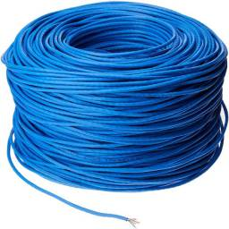 Cabo de rede Para Internet cat5 4 pares Preto e Azul 1 Real Acima de 30 metros