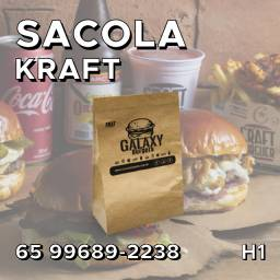 Sacola Kraft - Arte e Entrega Grátis