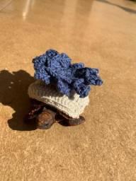 Roupa para tartaruga em crochê