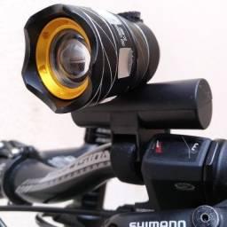 Lanterna Recarregável Para Bicicleta Foco Ajustável