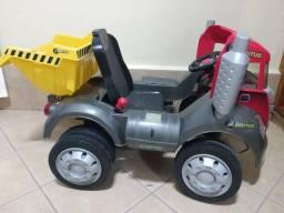 Caminhão truck infantil vermelho pedal<br>