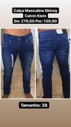 Calça jeans masculina calvin klein