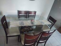 Mesa de jantar, seis lugares