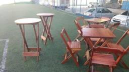 Aluguel de mesas, cadeiras, bistrôs e grades de isolamento