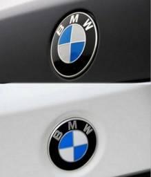 Par de Emblema Bmw 82mm + 74mm Capô e Porta Malas Series 3