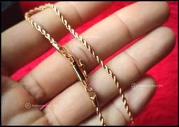 Pulseira modelo Baiana banhada em Ouro 18k Novo