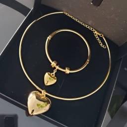 Conjunto Colar e Bracelete de luxo