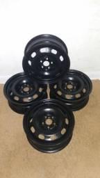 Rodas 5 furos aro 15   5×100