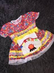 roupas infantis/ vestido junino/fantasia masha