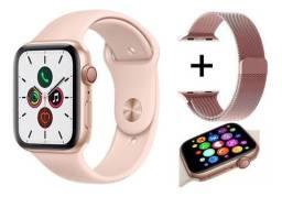 Smartwatch x7, faz e recebe ligações troca pulseira + pulseira milanesa