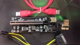 Placa Riser Mod.009S Plus 8 Capacitores - O Melhor Riser para Mineração!