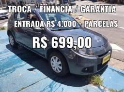 Sandero 1.0 , 2014 , Entrada + Parcelas R$ 699,00