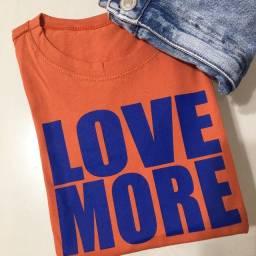 T-shirt feminina 100% algodão
