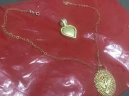 Vendo gargantilha da romanel cm 2 medalhas