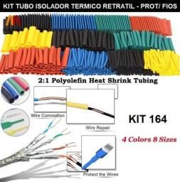 Título do anúncio: Kit 164 Pçs Conjunto Tubo Isolador Térmico Retrátil Para Proteção de Fios