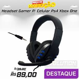 Headset Gamer para Celular Ps4 Xbox One notbook
