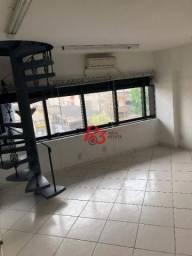 Sala, 79 m² - Venda ou locação - Aparecida - Santos/SP
