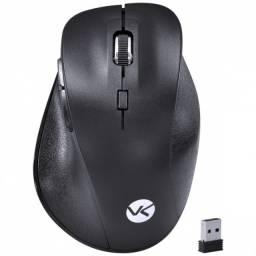 mouse sem fio wireless 2.4 ghz silencioso silent ergo 1600 dpi preto usb