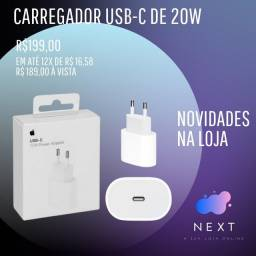 Fonte USB-C de 20W Apple para iPad e iPhone