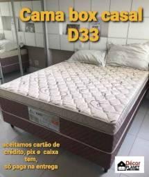 Promoção cama box casal casal D 33 espuma