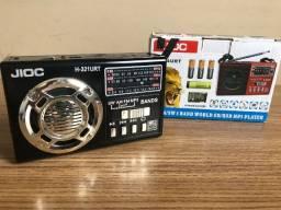 Rádio estilo Retrô - AM / FM / SW / USB / MP3 / AUX
