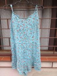 macaquinho azul floral tam 38