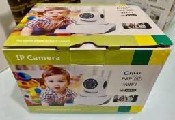 Câmera IP Wifi sem fio HD com monitoramento pelo celular