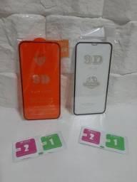 PELÍCULA DE VIDRO 9D IPHONE XR, 11, 12 e 12 PRO