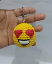 Lindos Chaveiros do Emoji em Amigurumi