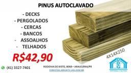 Pinus autoclavado - Decks, pergolados, cercas, telhados...