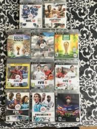 Título do anúncio: Fifa Coleção com 9 jogos PS3 mais 2 brindes