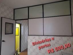 Divisórias e portas de divisória