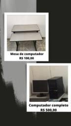 Título do anúncio: Móveis de escritório e computador usados