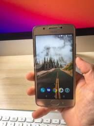 Moto G5 dourado, tela 5??, 32gb, leitor digital