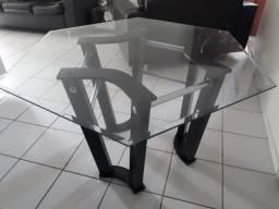 Título do anúncio: Mesa de vidro sextavado (hexagonal)