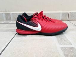 Chuteira Society Nike Tiempo Finale X br 43,5 us 11,5 Couro Lunarlon