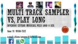 Multitrack sampler play long, vs
