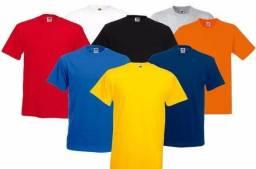 Kit 44 Camisetas Lisa Básica Malha 100% Algodão
