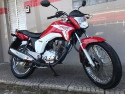 Honda Titan 150 Esd Vermelha 2015 Com 24.500 km Rodados! - 2015