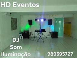 Som, Iluminação e DJ