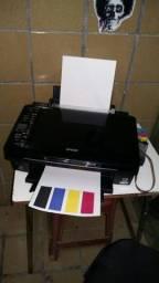 Multifuncional Epson Tx 420w wi-fi com Bulk ink instalado funcionando perfeitamente