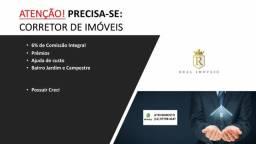 ATENÇÃO! Corretor de Imóveis - 6% Comissão + Ajuda de Custo + Beneficios + Premios