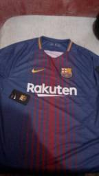 Camisa Barcelona I 17 18 Nike com Patrocínio - Masculina cb5948211c34c