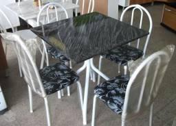 Mesa Disa com 4 cadeiras e tampo Granitado- Faça seu pedido Ligue *