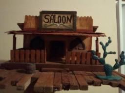 Saloon faroeste casa miniatura