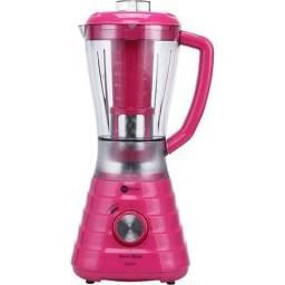 Liquidificador power blend rosa fun kitchen 220v