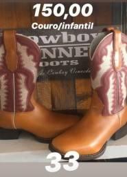 Bota 33 cowboy winer nova sem uso
